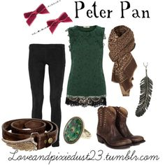 Peter Pan. The bows have to go but the rest of the outfit is too cute!