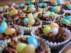 Easter Nests With Jelly Bean Eggs (Peanut Free)