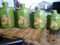 My 60s Retro Kitchen canisters <3 for My Retro Kitchen!!