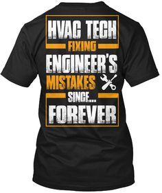 7fea782d6 Hvac Tech Tshirt Hvac Tech Fixing Engineer Mistake Hvac Tech Tshirt For Men