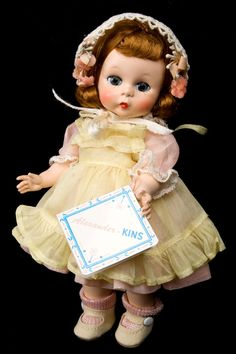 "8"" Madame Alexander 1953 Wendy-Kin Straight-Leg Non-Walker! Minty mint with original tag and box!"