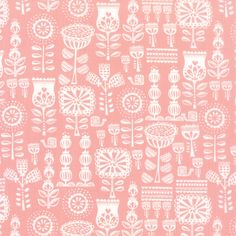 Listing is for 1 yard Lil Red Grandmas Wallpaper in pink Fabric by Stacy Iset Hsu for Moda Fabrics. Fabric is cotton, width. Please convo for additional yardage. Pink Fabric, Floral Fabric, Red Wallpaper, Red Riding Hood, Cotton Quilts, Red And Pink, Fabric Design, Printing On Fabric, Tapestry