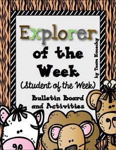 Celebrate each child with this Safari themed Star of the Week set. This comes with EVERYTHING you need. Check out the adorable preview. $