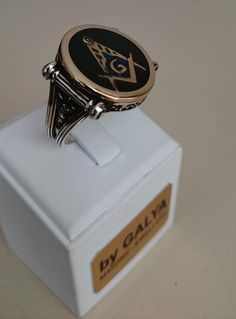 925 Silver Ring With Bronze And Emaye By Galya #masonic #freemasons #masonicring #maosnijewelry #freemasonry #masonicbracelet #masonicnecklace