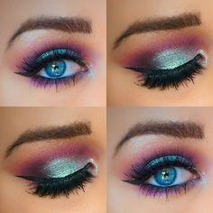 Eye Makeup Tips.Smokey Eye Makeup Tips - For a Catchy and Impressive Look Beautiful Eye Makeup, Pretty Makeup, Love Makeup, Makeup Inspo, Makeup Art, Makeup Inspiration, Neutral Makeup, Crazy Makeup, Mermaid Eye Makeup