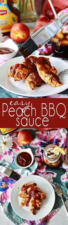 Easy Peach BBQ Sauce is a sweet way to elevate your summer dining. Perfect with a tall glass of Lipton Iced Tea. Sauce Recipes, Chicken Recipes, Cooking Recipes, Top Recipes, Easy Recipes, Easy Bbq Sauce, Barbeque Sauce, Barbecue, Sauces