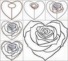 Heart-shaped rose
