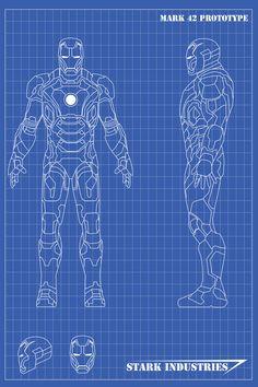 Iron Man Blueprints Mk42 by nickgonzales7.deviantart.com on @deviantART