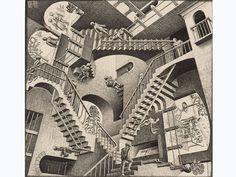 """Obra """"Relatividade"""", de M.C. Escher, parte de exposição em São Paulo"""