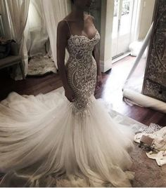 47ca66e14e8 Mermaid Sweet heart Lace Sexy Wedding Dresses