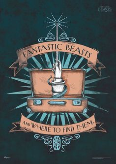 Fantastic Beasts and Where to Find Them™️ (Fantastic Beasts) MightyPrint™️ Wall Art MP17240217