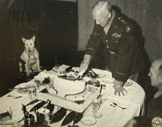 General Patton and his bull terrier Willie