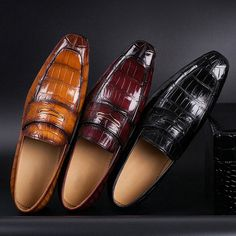 Casual Alligator Shoes, Luxury Alligator Shoes for Men