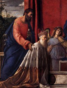BELLINI, Giovanni Italian painter, Venetian school (b. ca. 1426, Venezia, d. 1516, Venezia) Barbarigo Altarpiece (detail) 1488 Oil on canvas San Pietro Martire, Murano
