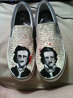 Custom Edgar Allan Poe shoes for you by SouthernShoes on Etsy, $45.00