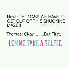 I can't stop laughing. The Maze Runner funny