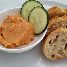 Awesome red pepper hummus recipe from Eat Drink Eat