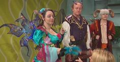 Naming Natasha Ryan of King 5 Morning News as an Honorary Fairy.  Presented with her first magic wand (courtesy of Fairy Bliss), she puts a FREEZE Spell on Wotan the Faeriesmasher! Click to watch the whole interview for #Myticworlds by #Faerieworlds! #FPL Castle Project, 5 Year Plan, Morning News, Our World, Event Venues, Faeries, Freeze, Seattle, Bliss