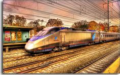 A very creative image of Amtrak's Acela Express by Tony Shi., on Flickr. Thanks for sharing!