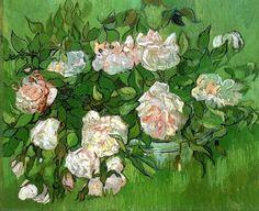 Vincent van Gogh -1890 Still Life, Pink Roses
