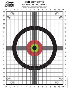 UPDATED: Zero Targets Optimized for Red Dot Style Optics (Aimpoint, EOTech, etc...) AR-15 & AK-47 - AR15.COM