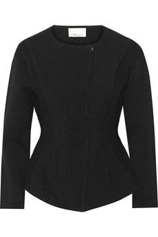 3.1 Phillip Lim Paneled textured stretch-knit jacket | THE OUTNET
