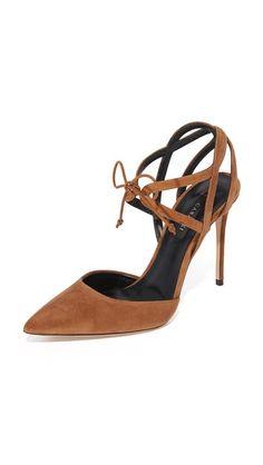 Casadei Suede Tie Front Sandals
