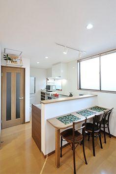 ご夫婦で楽しむ対面キッチン 床暖房で心も体も温かリフォーム | 名古屋のリフォームとリノベーション モアリビング