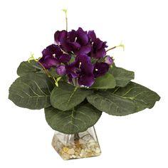 Gloxina w/Vase Silk Plant