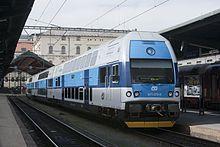 Škoda ČD Class 471 double deck electric multiple unit train