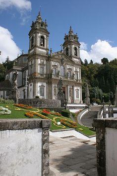 Santuário de Bom Jesus do Monte - Braga Portugal. I went to a wedding in this church.. BEAUTIFUL