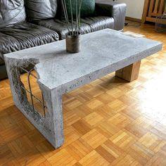 Concrete Furniture, Diy Furniture, Furniture Design, Business Furniture, Furniture Storage, Modern Furniture, Outdoor Furniture, Concrete Coffee Table, Coffee Table Design