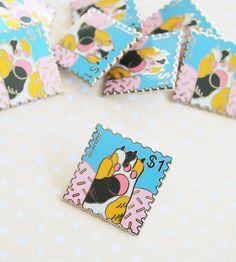 Calico Cat Paw Stamp hard enamel lapel pin