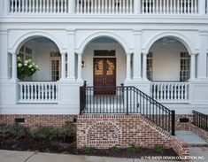 The most lovely double doors on the Carrington House Plan Cottage House Plans, Country House Plans, Cottage Homes, Luxury Floor Plans, Luxury House Plans, Custom Home Plans, Custom Homes, Charleston House Plans, Traditional House Plans