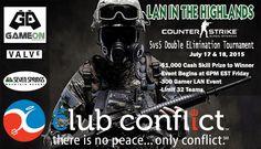 CS:GO lan event poster
