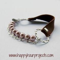 Diy Mixed Media Leather Bracelet