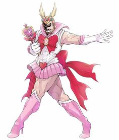 Cross-over! Sailor Moon x Boku no Hero Academia, My Hero Academia #bnha #mha