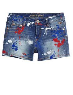 Paint Splatter Denim Shorts | Girls Shorts Clothes | Shop Justice