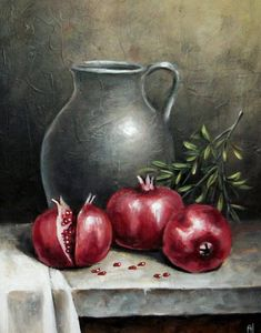 Pomegranates And Jug Cross Stitch Pattern Cross Stitch Supply Counted Cross Stitch Hand Embroidery Pattern Pdf Cross Stitch Pattern Pomegranates And Jug Counted Cross Stitch Pattern In Pdf Format By Maxispatterns On Etsy Still Life Drawing, Still Life Art, Fruit Painting, Fabric Painting, Counted Cross Stitch Patterns, Cross Stitch Designs, Embroidery Patterns, Hand Embroidery, Intermediate Colors