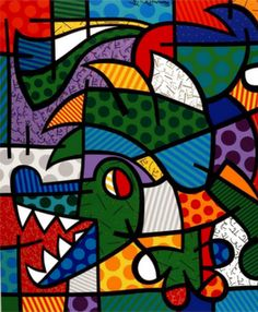 The Official web site for Pop Artist Romero Britto, view the latest events and artwork commissions of paintings and sculpture reflecting a modern pop art theme combined with the influences of early modern masters… Pintura Graffiti, Graffiti Painting, Graffiti Art, Abstract Pattern, Abstract Art, Paris Kunst, Modern Pop Art, Art Web, Art Plastique
