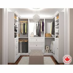 Bestar Organize It White U-Shape Closet