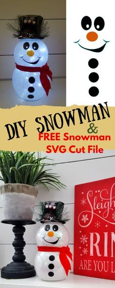 DIY Snowman with Glitter and Lights: Easy Fishbowl Snowman! - DIY Snowman with Glitter and Lights: Easy Fishbowl Snowman! - DIY Snowman with Glitter and Lights: Easy Fishbowl Snowman! - DIY Snowman with Glitter and Lights: Easy Fishbowl Snowman! Snowman Christmas Decorations, Dollar Tree Christmas, Dollar Tree Crafts, Snowman Crafts, Christmas Snowman, Christmas Projects, Holiday Crafts, Christmas Crafts, Christmas Trees