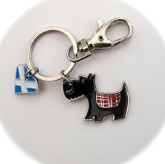 Scottie Enamelled Keychain or Handbag charm