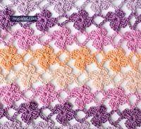 Ravelry: Crochet Flower Stitch pattern by MYpicot Picot Crochet, Crochet Chart, Crochet Motif, Diy Crochet, Crochet Flowers, Ravelry Crochet, Crochet Stitches Patterns, Crochet Designs, Knitting Patterns