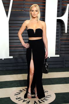 Jennifer Lawrence in Alexander Wang | 2016 Vanity Fair party