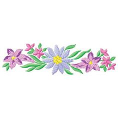 Free Machine Embroidery Border Design 3 Floral