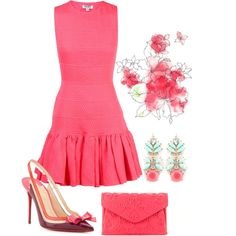 """beautiful summer dress"" by ria-kostopoulou on Polyvore"