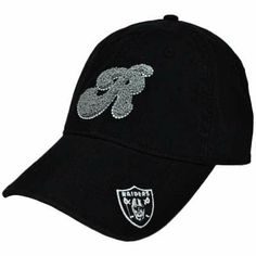 NFL Oakland Raiders Black White Gray Women Ladies Chenille Hat Cap Garment Wash by NFL. $14.99. Wow! This durable and unique hat is great for any occasion, whether you are playing sports or watching from the stands! Team letter logo embroidered in a special, extra soft looped pattern. Team logo embroidered on left front side of bill. Made especially for women. Adjustable sun buckle closure. One size fits most. Garment wash, relaxed fit. Authentic NFL Team Apparel. Offic...