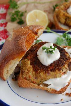 Vegan Crab Cakes with Sweet Balsamic Mayo [GF]