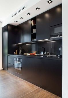37 Ideas Kitchen Black Cabinets Backsplash Interior Design For 2019 Black Kitchen Cabinets, Black Kitchens, Kitchen Black, Boho Kitchen, Kitchen Decor, Cuisines Design, Kitchenette, Cheap Home Decor, Kitchen Remodel